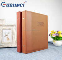 GuanMei photo album Post Bound PP Photo Album With PU Leather Cover 5R 2up 40 Sheets