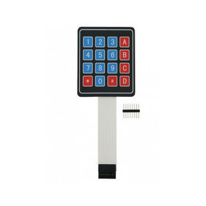 16 key membrane switch keypad 4x4 matrix keyboard with metal dome and custom color