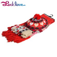 Assessed Manufacturer Cute Gloves Hat And Scarf Set