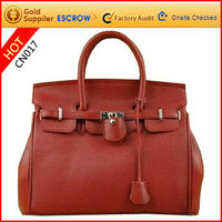 Luxurious and gorgeous design high quality cow leather lady leather briefcase