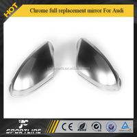 Chrome alu matt alloy full replacement mirror A6 S6 Style Side Mirrors Cover For Audi(fit A6 S6 C7 2012-2015)