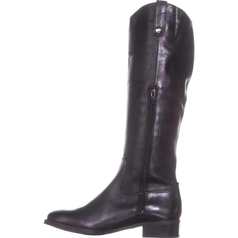 INC International Concepts Womens Fawne Leather Closed Toe Over, Black, Size 5.5