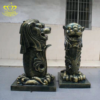 New design cnbdglory metal art Bronze merlion statue garden Fountain