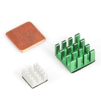 NEW Copper Aluminium Cooling Heatsink Kit for Raspberry Pi 3 Raspberry Pi 2 B+