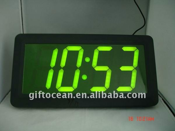 Vista led reloj gigante llev reloj de pared gran - Reloj gigante pared ...