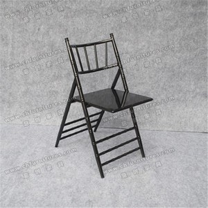 YC-A215 New Type Event foldaway chairs in black / Tiffany Chiavari folding chairs
