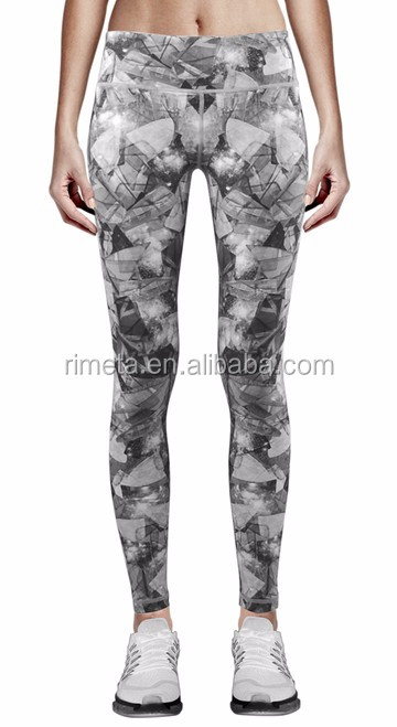 Custom Sublimation Women sports leggings Dry Fit Gym Fitness Wear Printing Yoga pants