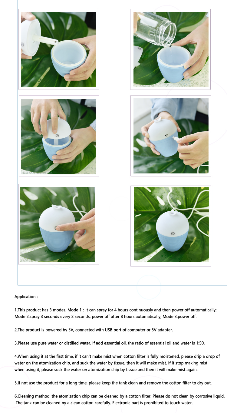 New product! Wholesale mini usb air humidifier car aroma diffuser