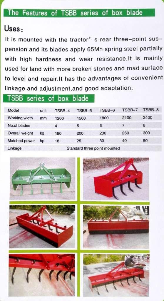 Box Blade - Buy Tractor Box Blade,Tractor Rear Box Grader Blade,Box Blade  Product on Alibaba com