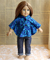 New 2pcs set blue cloak jeans for 18 girl doll clothes AMERICAN PRINCESS doll clothes and