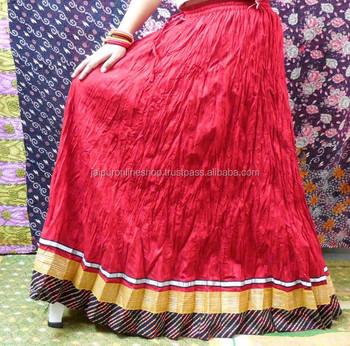 04213b69b5 Buy Elegant Red Color Lehenga Style Designer Skirts - Online Shopping India