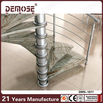 Hot sale metal spiral stairs price marble stairs and for Aluminum spiral staircase prices