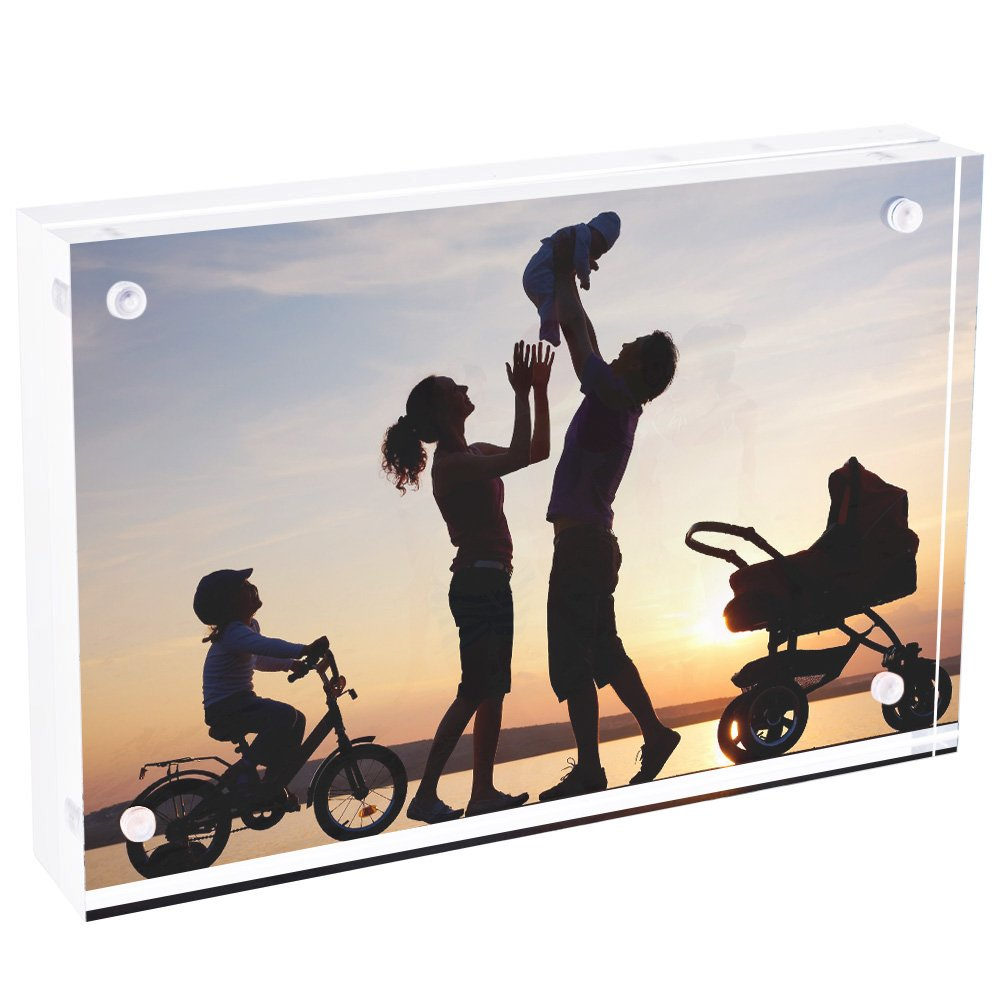 TWING Premium Acrylic Photo Frame Magnet Photo Frame 5x7 inch (5 pack)