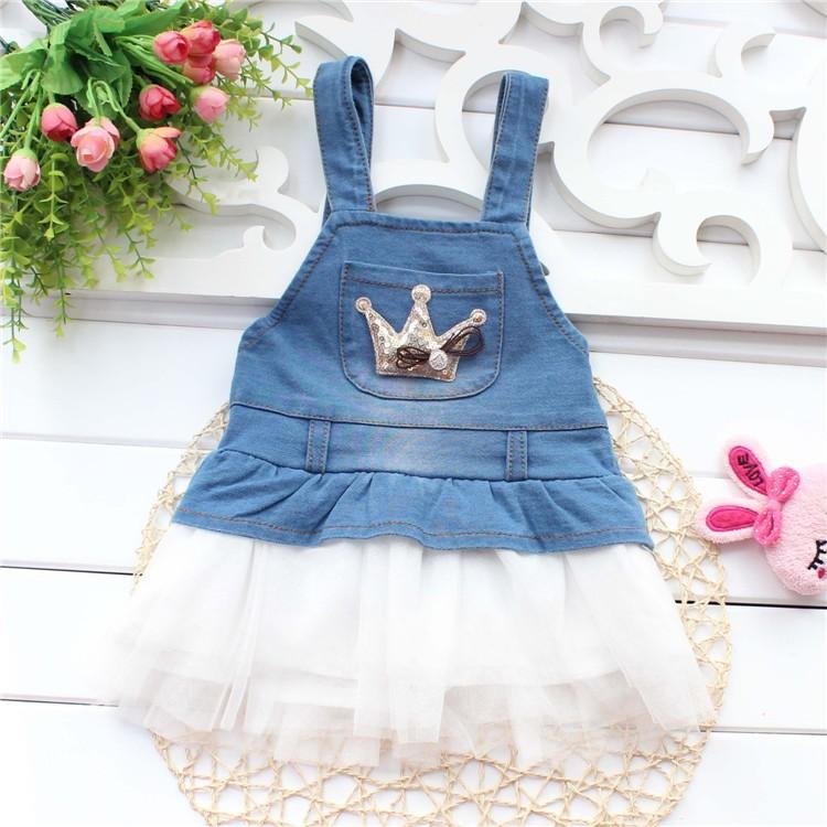 404f9ad6037 2019 Wholesale Retail 2014 Baby Girl Fashion Dress Kids Summer ...