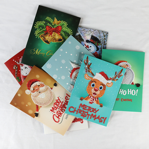 2018 new design christmas card 5d diamond painting greeting card on paper