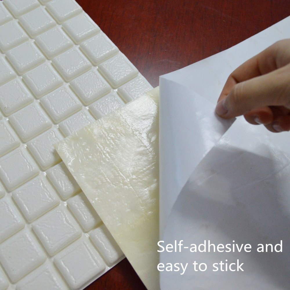 Creative diy 3d self adhesive waterproof pe foam for 3d wallpaper waterproof