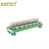 14 Channel 1 SPDT DIN Rail Mount OMRON G2R 12V DC/AC Interface Relay Module