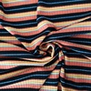 Custom yarn dyed soft stripe knitted french 1x1 rib fabric for sweater