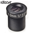 Kingopt 6mm Long Focal Length 3MP 1/2.5 CCTV Camera Network Lens F1.8 M12 Holder Security Lenses with ir filter