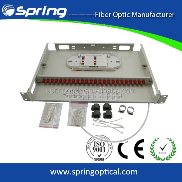 24port optical fiber termination box distribution frame for FTTH System