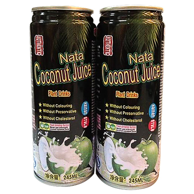 Wholesale healthy 245ml canned coconut water juice drink