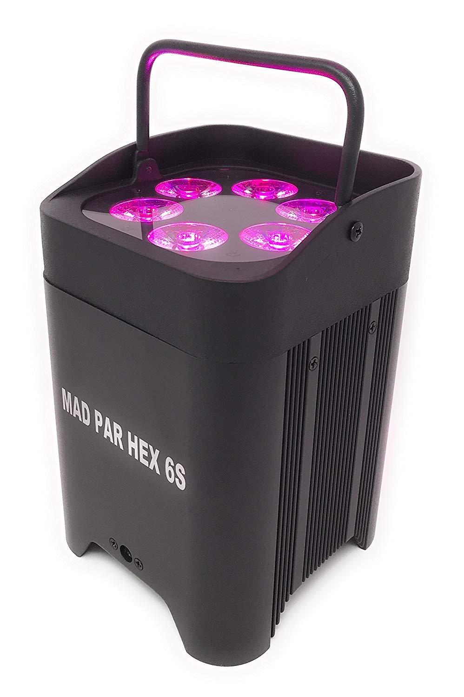JMAZ Crazy Par Hex 6S Battery Par Light with Wireless DMX IR Remote 6in1 RGBWA+UV Hex LED