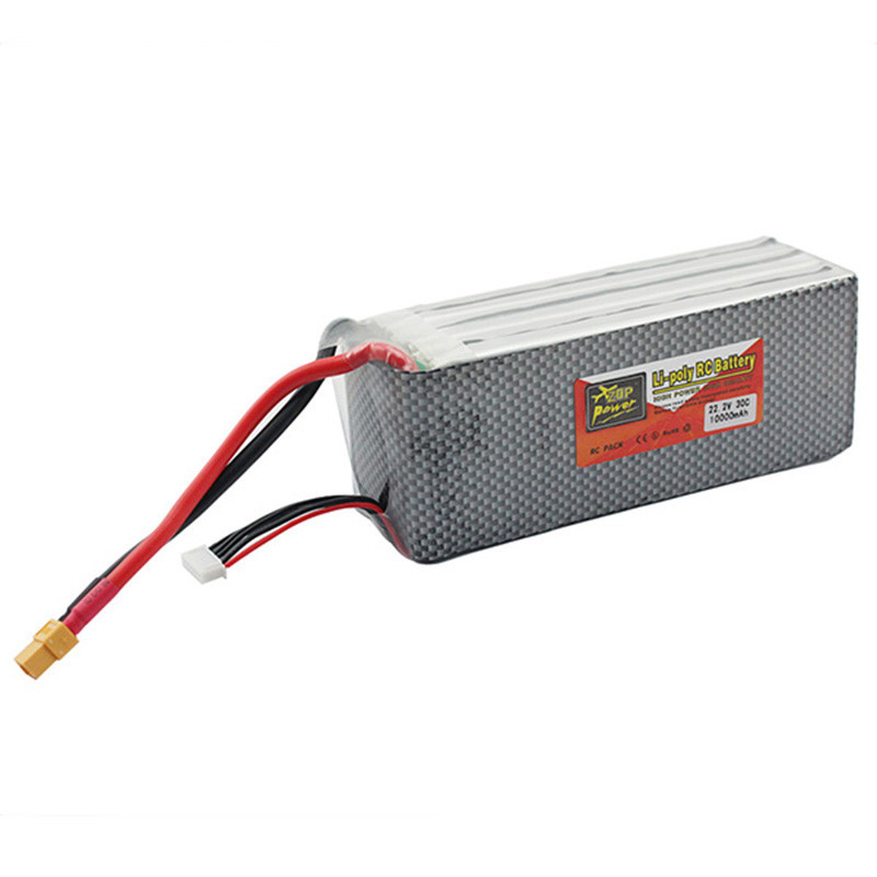 ZOP Power Lithium Li-polymer Battery 22.2V 10000mAh 6S 30C XT60 For Rc