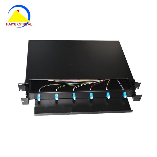 24 Fiber 1RU Rack Mount FDP Patch Only w// 12 SC//APC Duplex Adapters
