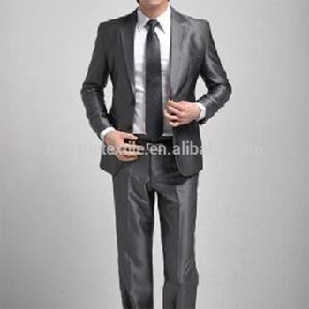Mens Poly Rayon Shining Wedding Suit - Buy Men Slim Fit Suits,Grey ...