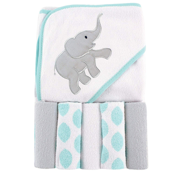 wholesale baby boys and girls microfiber elephant hooded towel and washcloths
