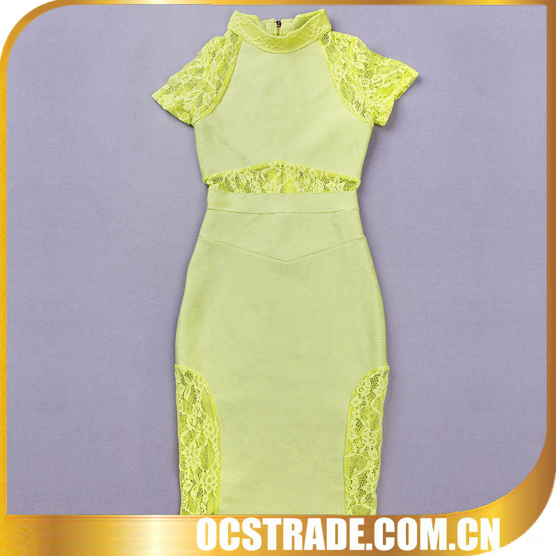 yellow ankle length evening dresses with sleeves