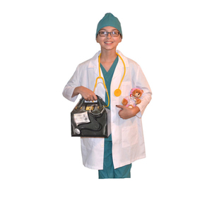 Children's White Lab Coat / Doctor Coat / Science lab Coat Stethoscope Fancy Dress