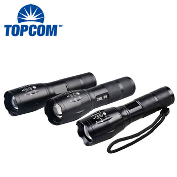 Outdoor 10w Strong Light Long Range Rechargeable Emergency Torch Light LED T6 Flashlights Torch
