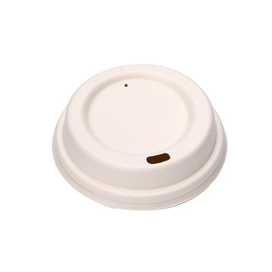 Paper coffee cups with lid biodegradable cups bagasse lids pulp lid