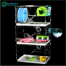 2017 Popular Luxury Large 3 Layer Plastic Hamster Cage With Various Toys