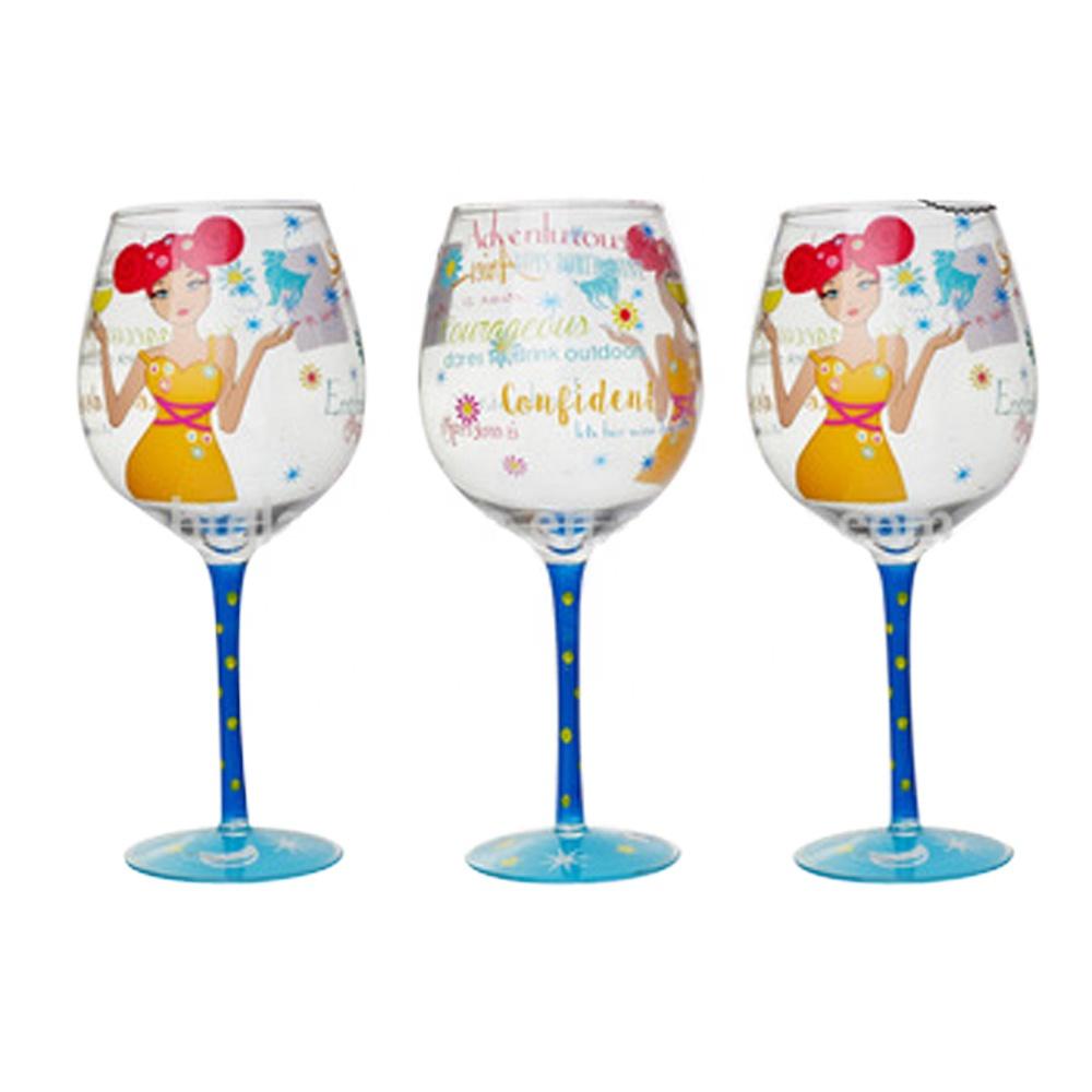 ענק יד ציור כוס יין אדום מסיבה-כוסות יין-מספר זיהוי מוצר:60457278742 YU-68