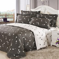 tree pattern micro fiber percale print bedding set