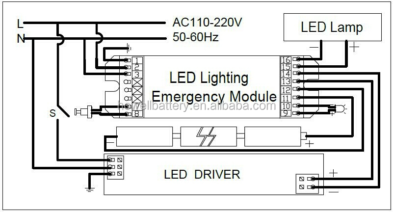 Wiring Diagram For Emergency Lights from sc01.alicdn.com