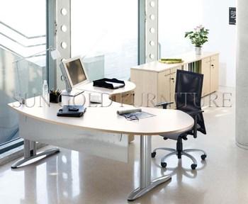 Set Curved Office Desk For Manager Sz