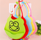 cute waterproof silicone baby bib elastic Food Grade Waterproof Big Pocket Baby toddler Bib Soft Silicone With Openning Food Ca