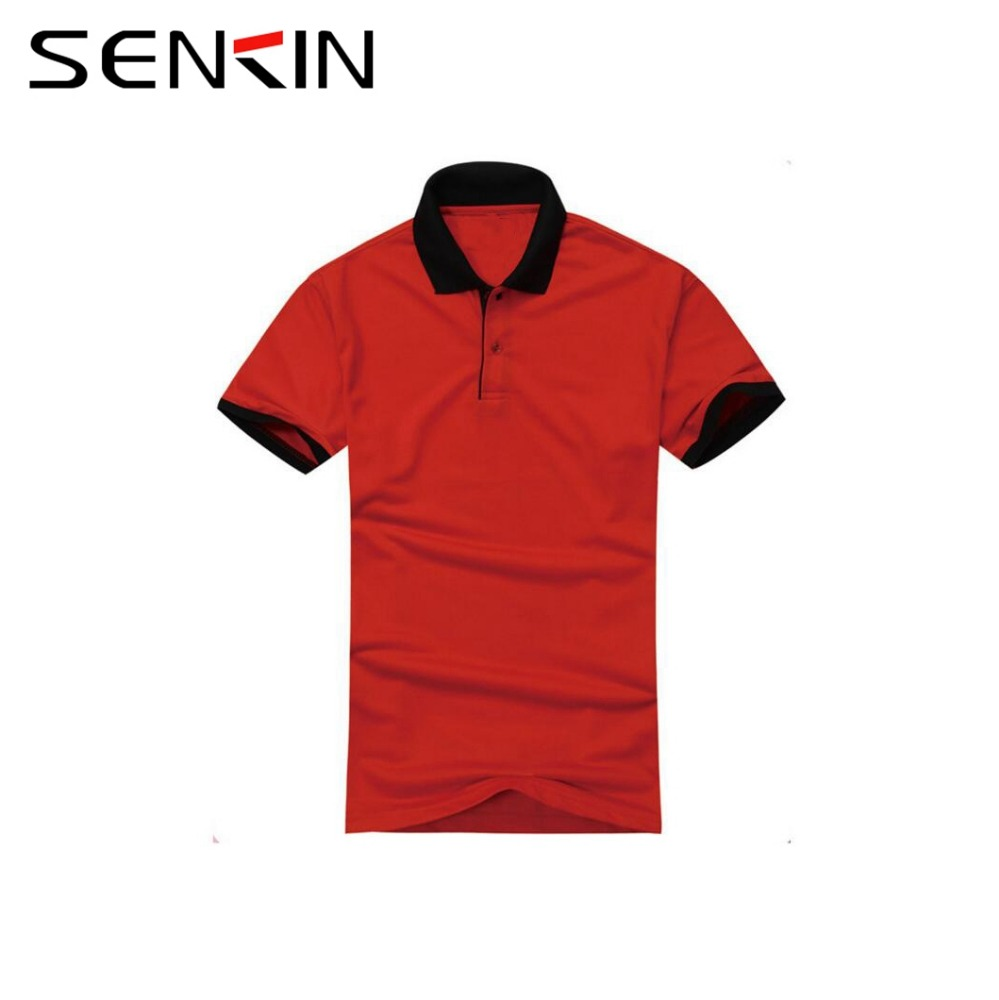100% Egyptian Cotton Custom your Logo Polo Shirt Bulk Men s Thick Red Polo  t shirt with Black Collar OEM 4d864f8f1a1c