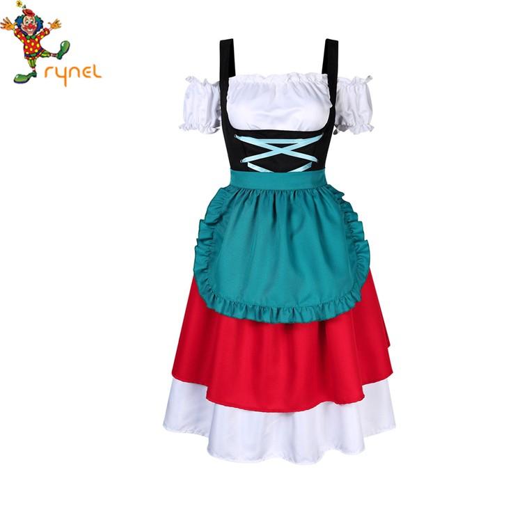 Women Oktoberfest German Bavarian Beer Maid Cosplay Costume Fancy Dress Outfits