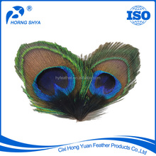 Manufacturer BF-260/3 Luxury Vintage Design Natural Peacock Feather Brooch With Excellent Quality
