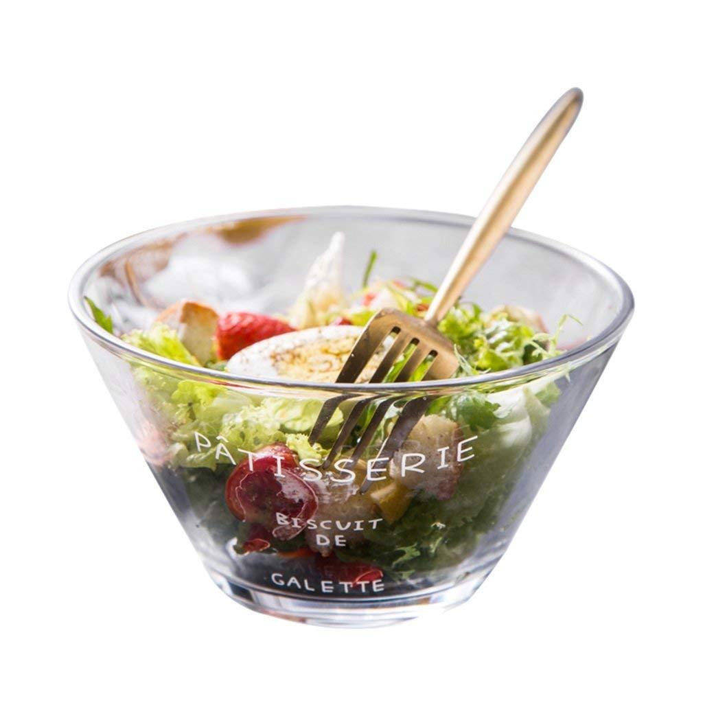 Bowls Glass Salad Bowl Soup Bowl Smoothie Bowl Ice Cream Bowl Fruit Bowl Shaved Ice Bowl Milk Tea Dessert Sugar Bowl (Color : White, Size : 6 inches)