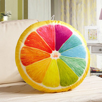 China wholesale sofa cushion, fruit style dual usage bolster with quilt sale in summer