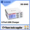 Wholesale 6 port USB rapid Charger 5V 6A Rapid Charge For iphone Smart multi USB Charger