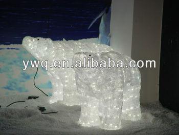 snoe white polar bear shape christmas lights led motif light