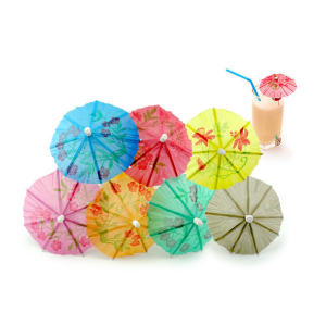 Promotional disposable drink cocktail umbrella decoration pick cocktail umbrella