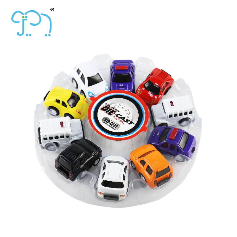 Mini Pull Back Metal Car Toys Colorful Safe For Child
