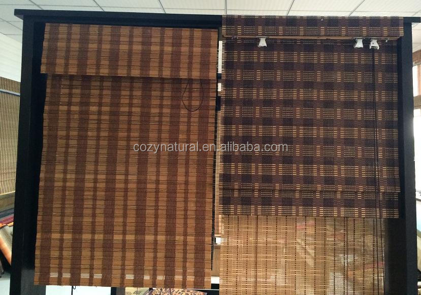 "Bamboo Roman Blind with 6"" Valance Window shade SIZE 48"" x 72"""